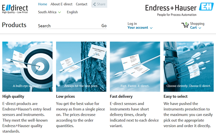 Endress+Hauser launched a new online information and shopping platform