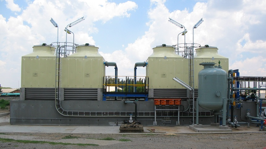 COOLING TOWERS AND HEAT EXCHANGERS WITHIN THE SX-EW PROCESS