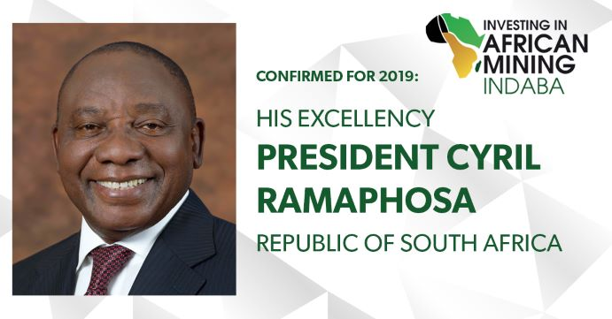 President Cyril Ramaphosa confirmed to attend Mining Indaba's 25th Anniversary