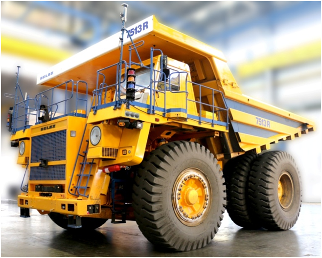 BELAZ autonomous mining trucks operating in 5G-cloud network test zone