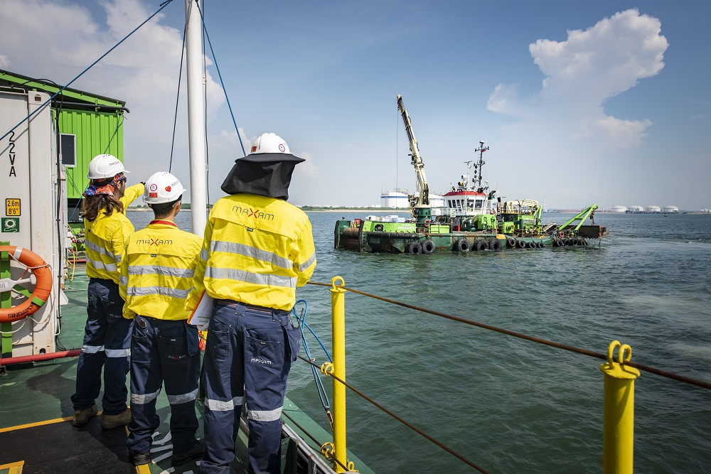 MAXAM successfully completes blasting operation for Singapore Port extension