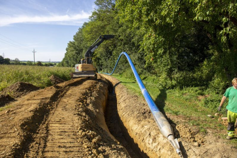 Drinking water pipe rehabilitated trenchless