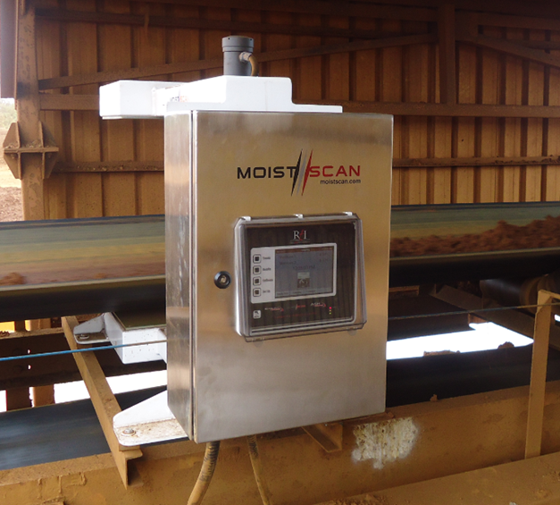 Real time moisture analysis in mining using MoistScan moisture analyzers