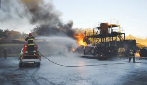 Self-contained foam mist system may minimise potential loss of life