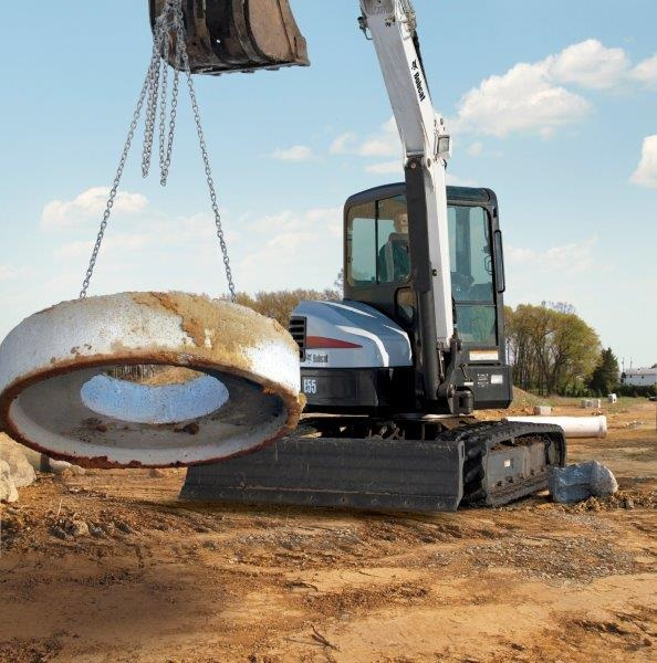 Precision control boosts productivity on Bobcat E55 compact excavator