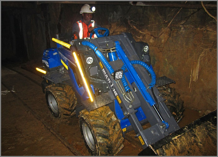 Multione Compact Articulated mining loaders