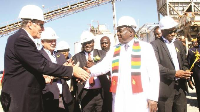 Zimbabwe President officially reopens $60m Eureka Gold mine