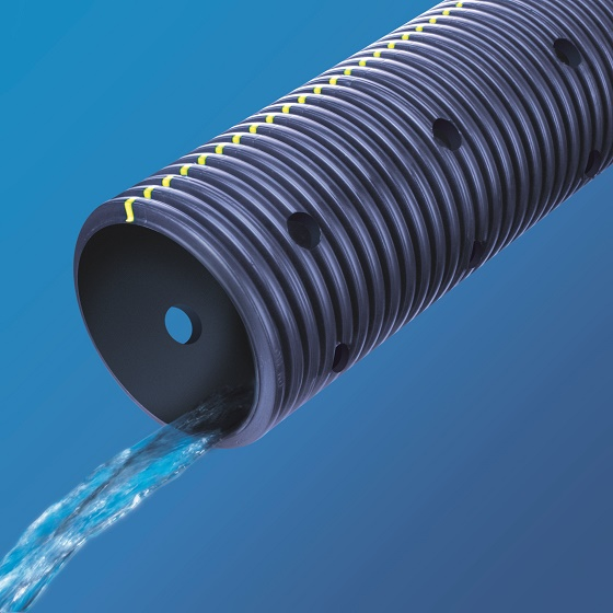 Fibertex distributes Dura-Line's sub-soil drainage pipe and associated accessories used in conjunction with Fibertex geotextiles and composite drainage systems