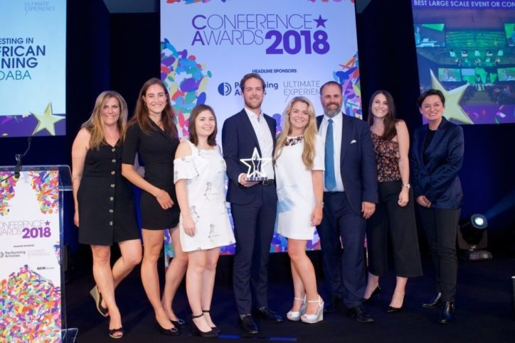 Mining Indaba takes home 1st prize for 'Best large-scale event' at the 2018 Conference Awards