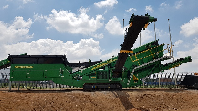 HPE Africa distributes McCloskey crushing and screening plants - S130 high energy screener