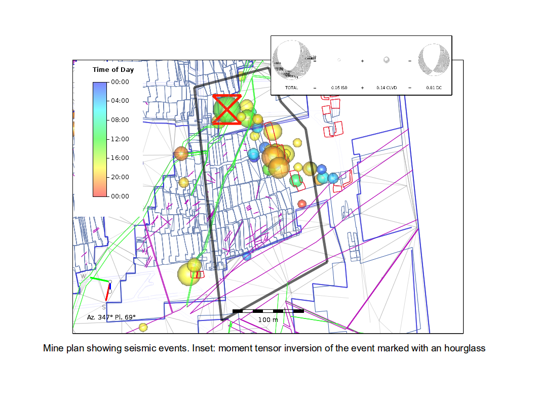 Monitoring seismic activity in mines
