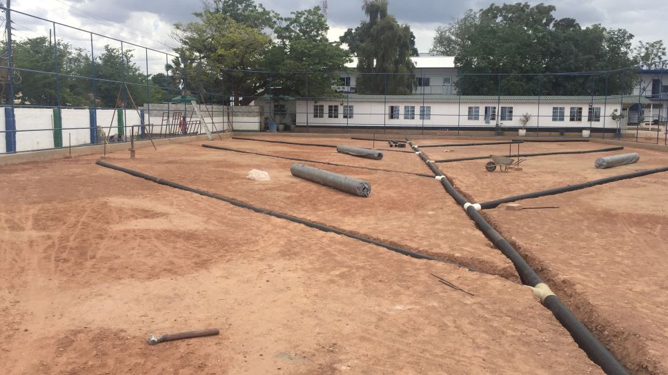 Fibertex drainage system forms part of upgrade of sports facilities at Lusaka International Community School, Zambia