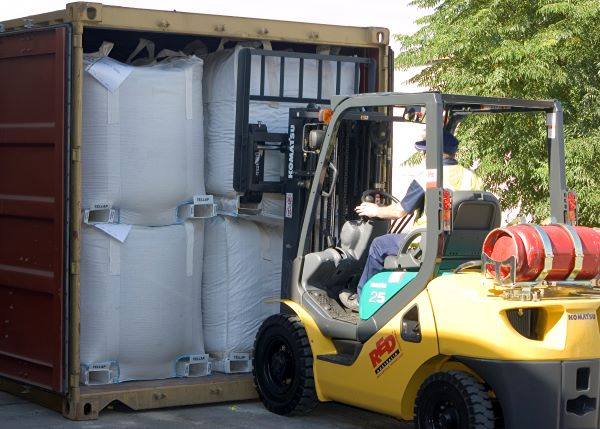 TELLAP pallet-free bulk bags for safe and efficient packing and transport in the mining sector
